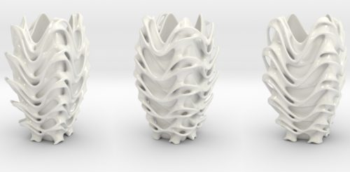 Porcelain Tower Vase